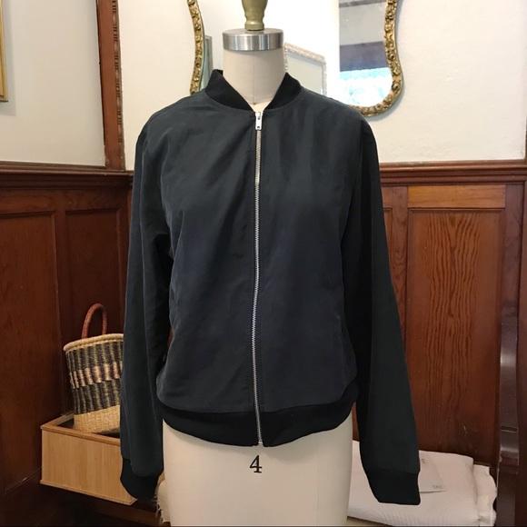 American Apparel Jackets & Blazers - American Apparel faux silk bomber jacket